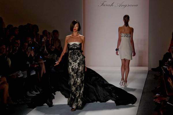 Farah Angsana - Spring 2013 New York Fashion Week (photo by Bibs Teh / Meniscus Magazine)