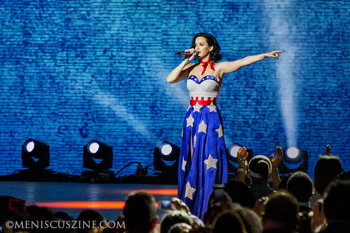 Katy Perry closed the Kids' Inaugural concert on Jan. 19, 2013, with four songs. (photo by Kwai Chan / Meniscus Magazine)