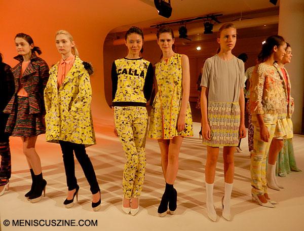 Calla Fall 2013, MADE Fashion Week, Milk Studios. (photo by Yuan-Kwan Chan / Meniscus Magazine)
