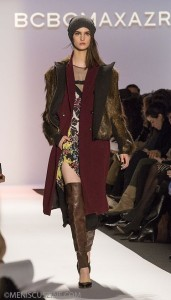 A look from the BCBGMAXAZRIA Fall 2013 show at New York Fashion Week. (photo by Kwai Chan / Meniscus Magazine)