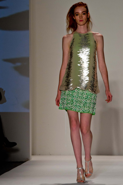 A look from Tracy Reese's Spring 2013 collection at New York Fashion Week. (photo by Bibs Teh / Meniscus Magazine)