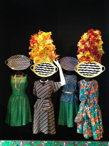 A display from the Duro Olowu for JCPenney Spring 2013 press preview during New York Fashion Week. (photo by Angela K. Hom / Meniscus Magazine)