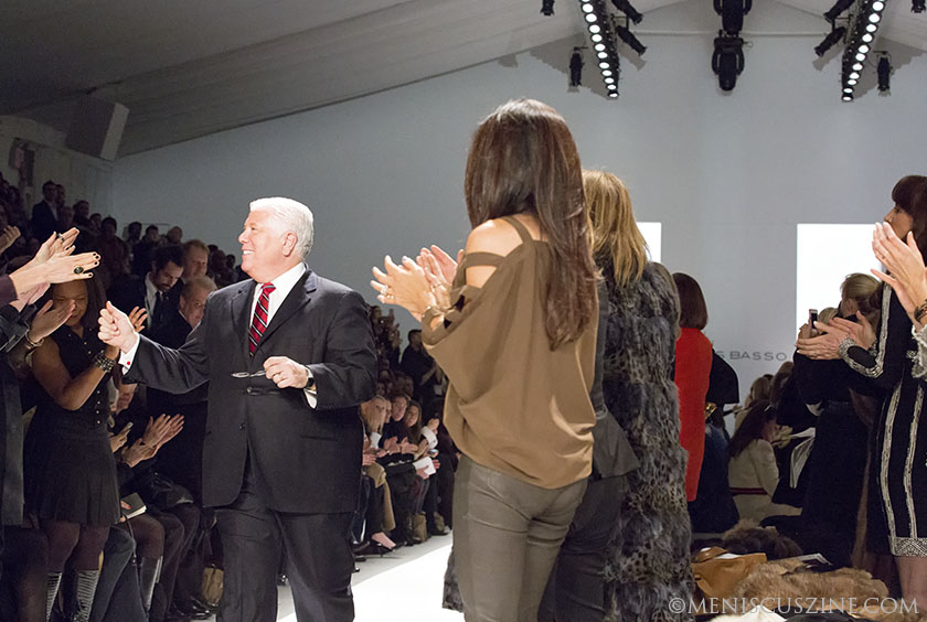 After showing at the St. Regis Hotel last season, American designer Dennis Basso brought his favorite fur looks back to Lincoln Center. (photo by Kwai Chan / Meniscus Magazine)