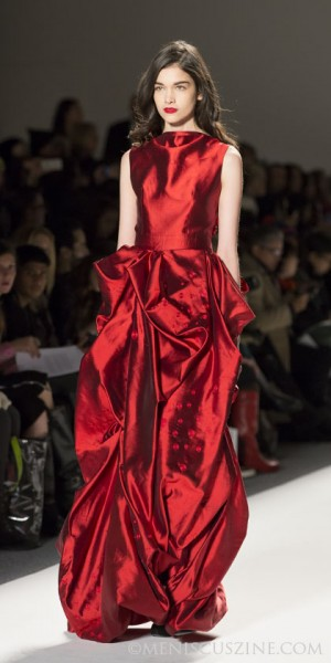 A gown from the Bahrain-inspired Noon by Noor Fall 2013 collection. (photo by Kwai Chan / Meniscus Magazine)