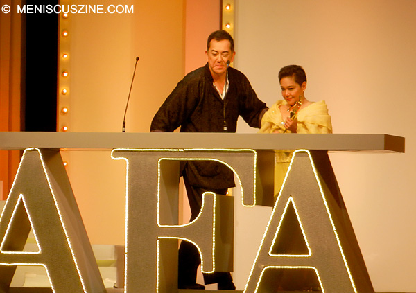 Anthony Wong and Nora Aunor - 2013 Asian Film Awards