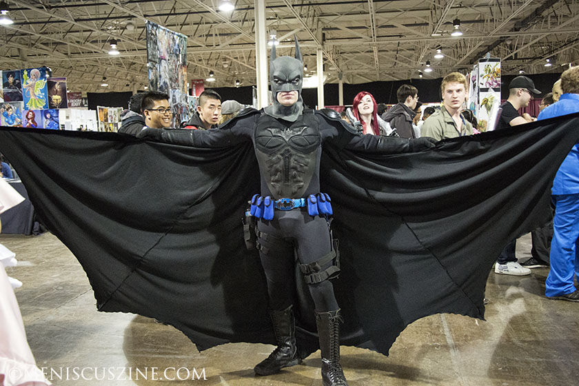 The sold-out Anime North convention brought in 20,000 fans each day, including this Batman clone. (photo by Kwai Chan / Meniscus Magazine)