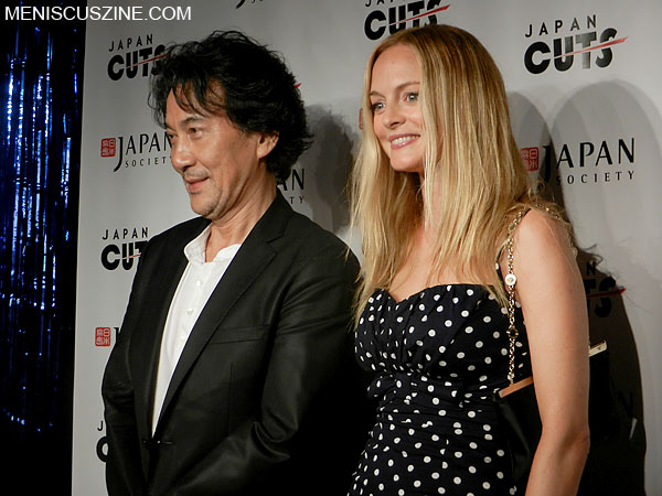 "Koji Yakusho and Heather Graham at the July 20, 2012, screening of ""The Woodsman and the Rain"" at the Japan Cuts film festival in New York. (photo by Yuan-Kwan Chan / Meniscus Magazine)"