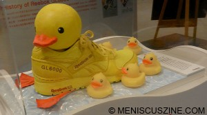 The Rubber Duck put local brand B. Duck's merchandise front and center, and also inspired countless other products, including this shoe collaboration between Belenation and Reebok. (photo by Yuan-Kwan Chan / Meniscus Magazine)