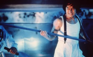 """Jackie Chan as Ryo Saeba in """"City Hunter."""" (photo courtesy of Golden Harvest/The Kobal Collection)"""