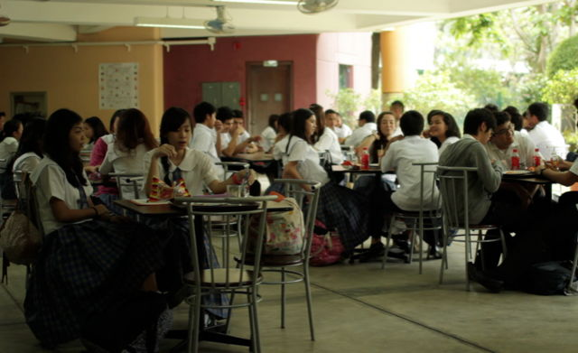 High school students congregate in Gino M. Santos' debut film. (photo courtesy of the Film Society of Lincoln Center)
