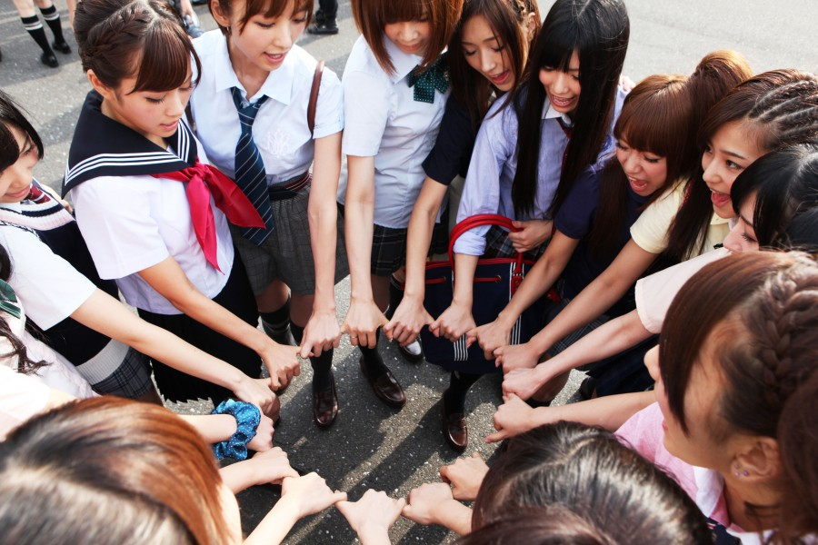 At the end of the day, the girls of AKB48 put their differences aside. (photo courtesy of the Japan Society)