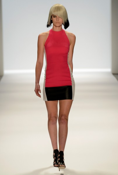 Fine, fitting form at the Carmen Marc Valvo Spring 2014 fashion show at Lincoln Center. (photo courtesy of Getty Images)