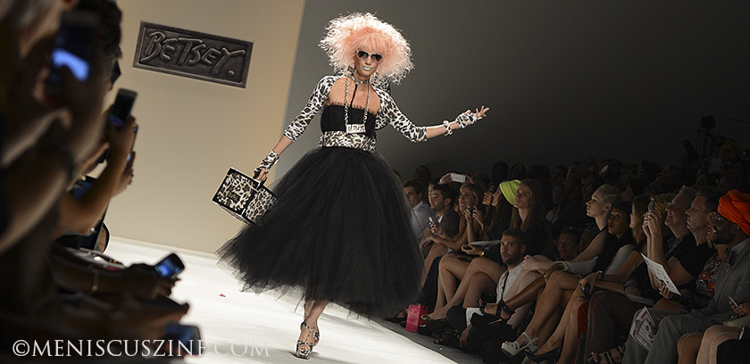 A look from the Betsey Johnson Spring 2014 runway show at Lincoln Center. (photo by Semon Tam for Meniscus Magazine)
