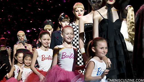 The finale of the Barbie Runway Show at New York Fashion Week. (photo by Kwai Chan / Meniscus Magazine)