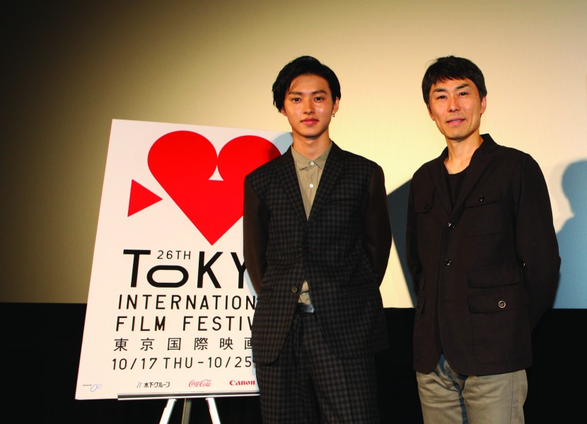"Actor Kento Yamazaki and ""Jinx!!!"" director Naoto Kumazawa appear at the 2013 Tokyo International Film Festival. (photo courtesy of the Tokyo International Film Festival)"