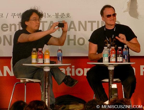 Quentin Tarantino & Bong Joon-ho - 2013 Busan International Film Festival