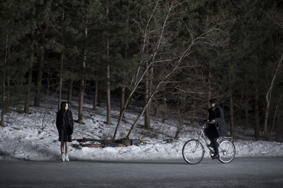 "Two teenagers literally skate on thin ice in Choi Jin-seong's ""Steel Cold Winter."" (photo courtesy of the Busan International Film Festival)"