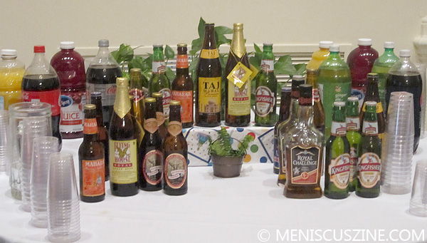 Various beverages at the Indian Festive Food Week launch. (photo by Christopher Bourne / Meniscus Magazine)