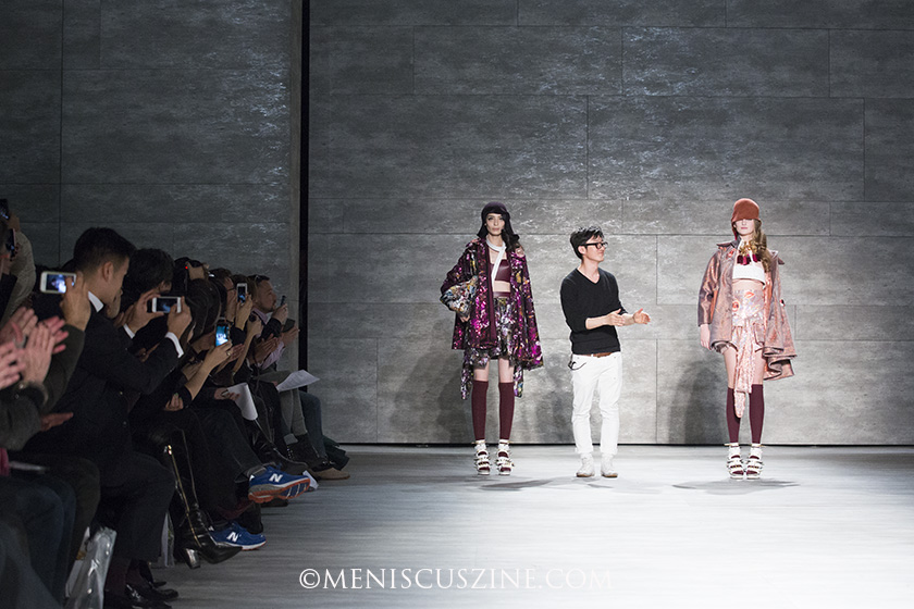 The resume of Lee Jean Youn (center) includes a collaboration with MANGO and a previous New York Fashion Week showing as part of the South Korean government's Concept Korea collective in 2010. (photo by Kwai Chan / Meniscus Magazine)
