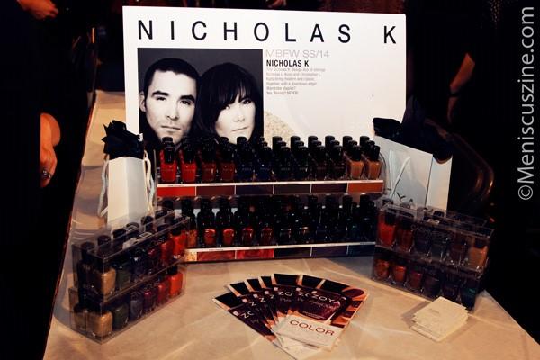The Zoya nail polish color palette for the Nicholas K Spring 2014 collection. (photo by Ekaterina Golovinskaya / Meniscus Magazine)