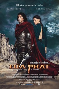 "An official poster of ""Once Upon a Time in Vietnam,"" showing the Vietnamese title, with Dustin Nguyen and Veronica Ngo. (photo courtesy of Lửa Phật Movie)"