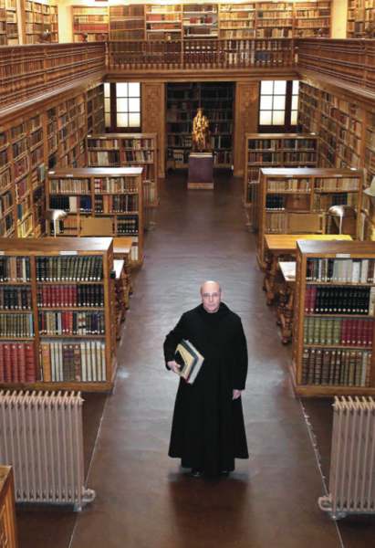 Father Damià Roure, director of the library at the Monastery of Montserrat. (still courtesy of the Hong Kong International Film Festival)