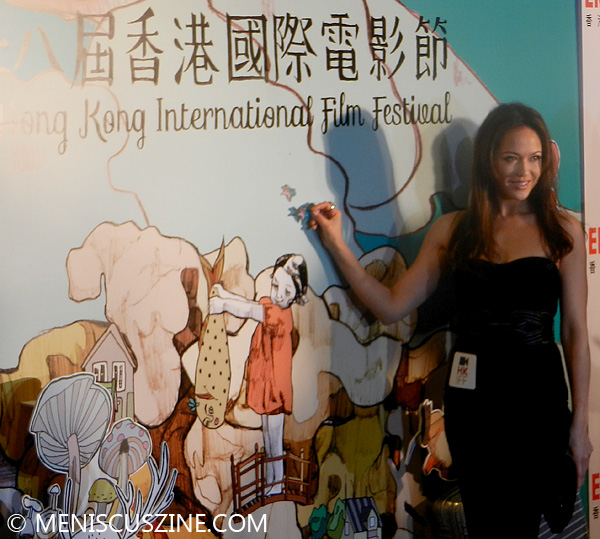 Ankie Beilke before the 2014 Hong Kong International Film Festival Opening Ceremony. (photo by Yuan-Kwan Chan / Meniscus Magazine)