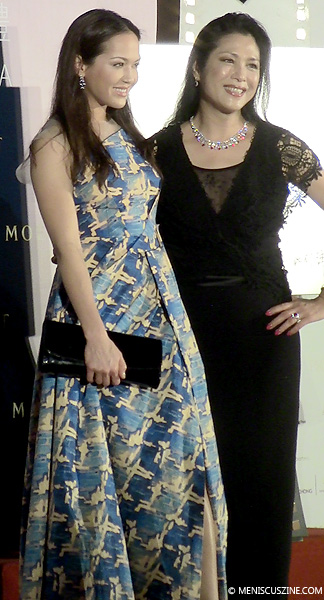 Ankie Beilke with her mother, Ankie Lau, at the 8th Asian Film Awards on Mar. 27, 2014. (photo by Yuan-Kwan Chan / Meniscus Magazine)