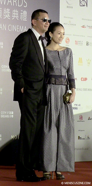 Wong Kar-Wai (left) and Zhang Ziyi on the red carpet at the Asian Film Awards on Mar. 27, 2014. (photo by Yuan-Kwan Chan / Meniscus Magazine)