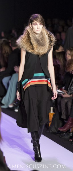A look from the BCBGMAXAZRIA Fall 2014 show at Lincoln Center. (photo by Kwai Chan / Meniscus Magazine)