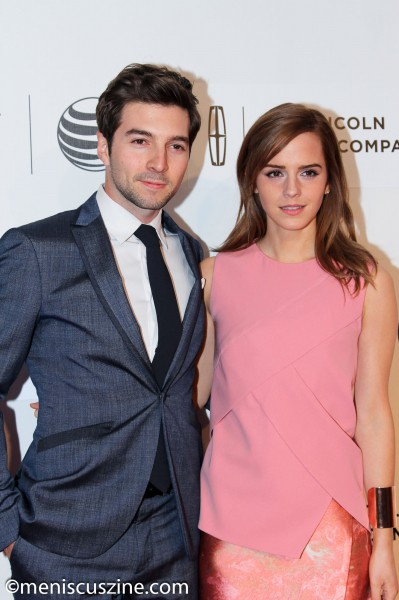 Roberto Aguire and Emma Watson at the 2014 Tribeca Film Festival on Apr. 20. (photo by Yanek Che / Meniscus Magazine)