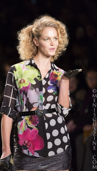 Erin Heatherton on the New York Fashion Week runway. (photo by Kwai Chan / Meniscus Magazine)