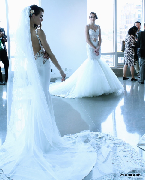 A couple of bridal gowns from the Galia Lahav Spring 2015 La Dolce Vita collection. (photo by Shelly Xu / Meniscus Magazine)