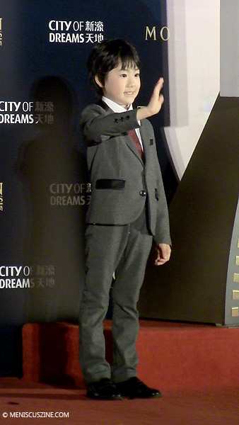 Best Newcomer nominee Keita Ninomiya at the 2014 Asian Film Awards in Macau on Mar. 27. (photo by Yuan-Kwan Chan / Meniscus Magazine)