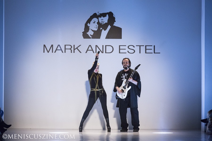 Designers Estel Day and Mark Tango at the close of their Mark and Estel Fall 2014 runway show. (photo by Kwai Chan / Meniscus Magazine)