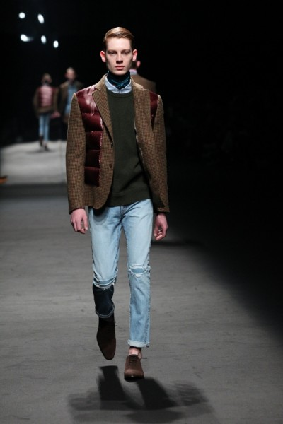 An outfit from the MR. GENTLEMAN Fall 2014 runway show. (photo courtesy of Mercedes-Benz Fashion Week Tokyo)