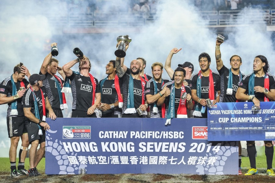The All Blacks also won earlier in the World Series season in Australia and on their home turf, New Zealand. (photo courtesy of Victor Fraile / Power Sport Images)