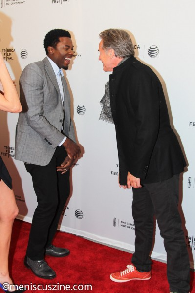 """Alex of Venice"" cast members Derek Luke and Don Johnson at the film's world premiere in New York. Johnson plays the father of Alex (Mary Elizabeth Winstead). (photo by Yanek Che / Meniscus Magazine)"