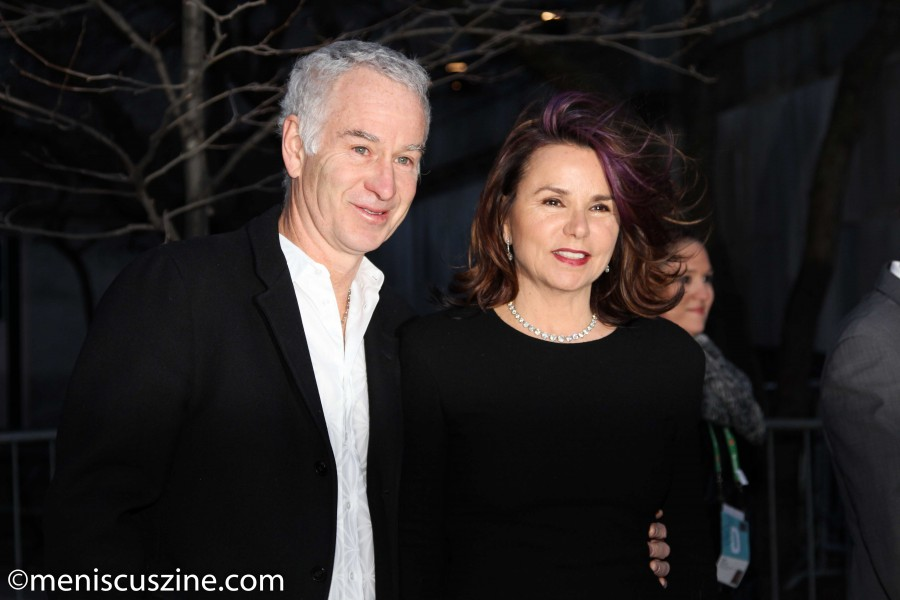 John McEnroe and Patty Smyth at Vanity Fair's 2014 Tribeca Film Festival Party. (photo by Yanek Che / Meniscus Magazine)