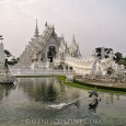 Wat Rong Khun, also known as the White Temple, is a work-in-progress that the lead artist hopes will continue at least six decades after his passing.