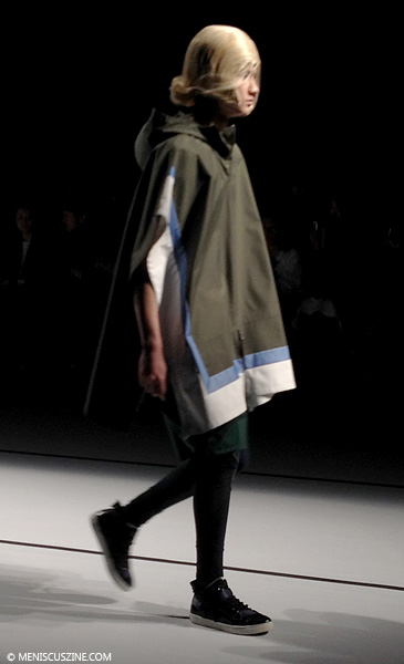 A look from the Yoshio Kubo Fall 2014 menswear show in Tokyo. (photo by Megan Lee / Meniscus Magazine)