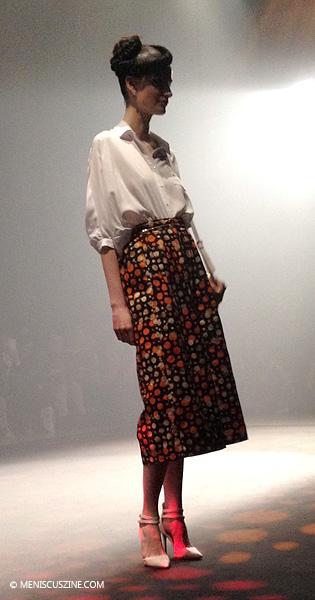 The Afriqan Apeiron Fall 2014 runway show at Tokyo Fashion Week took place at Shibuya Hikarie. (photo by Megan Lee / Meniscus Magazine)
