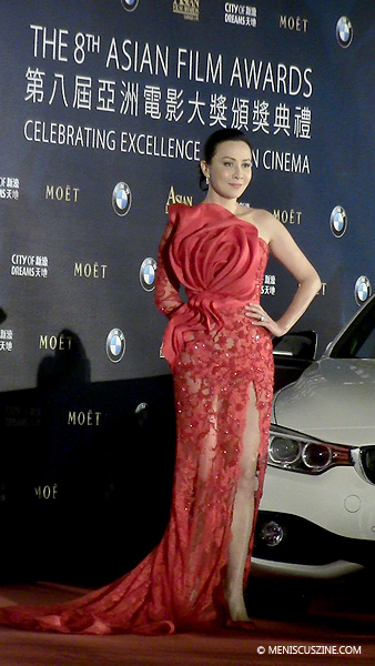 Actress and 2014 AFA Celebrity Jury member Carina Lau at the 2014 Asian Film Awards on Mar. 27. (photo by Yuan-Kwan Chan / Meniscus Magazine)