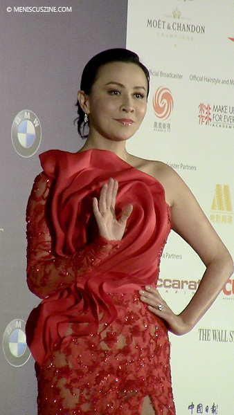 Carina Lau before the 2014 Asian Film Awards ceremony at the City of Dreams in Macau. (photo by Yuan-Kwan Chan / Meniscus Magazine)