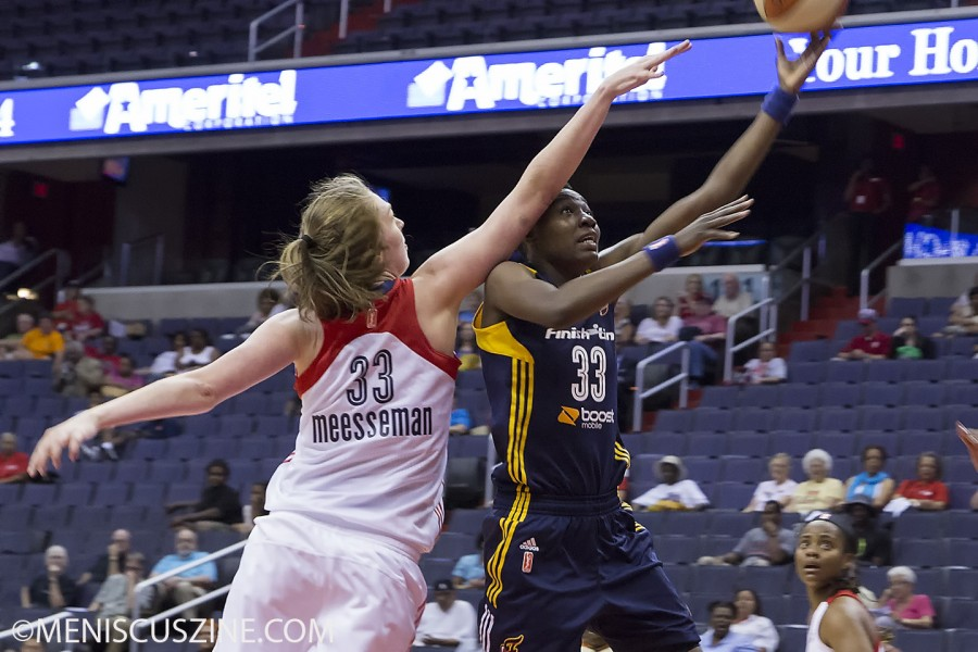 Natasha Howard (right) led the Indiana Fever with 20 points. (photo by Kwai Chan / Meniscus Magazine)