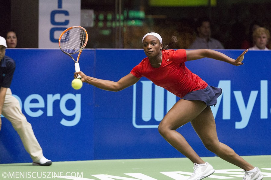Sloane Stephens during her only home match for the Washington Kastles. (photo by Kwai Chan / Meniscus Magazine)
