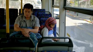 "(L-R) Ping Medina, as Moises, and Marc Justine Alvarez, as Joshua, in a scene from Hannah Espia's ""Transit."" (still courtesy the Asian American International Film Festival)"