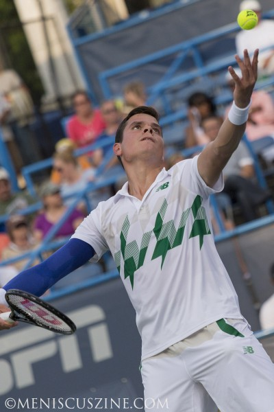 Milos Raonic won the biggest singles title of his career with a straight-set win over Vasek Pospisil in the 2014 Citi Open final. (photo by Kwai Chan / Meniscus Magazine)