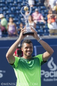 Jo-Wilfried Tsonga capped off a stunning week at the 2014 Rogers Cup with a straight-sets win over Roger Federer in the final. (photo by Kwai Chan / Meniscus Magazine)