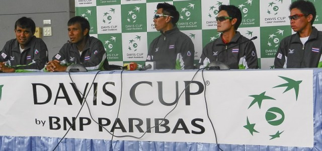 Following a doubles victory by twin brothers Sanchai and Sonchat Ratiwatana, the Thai Davis Cup team will be promoted to Asia/Oceania Group I in 2015.
